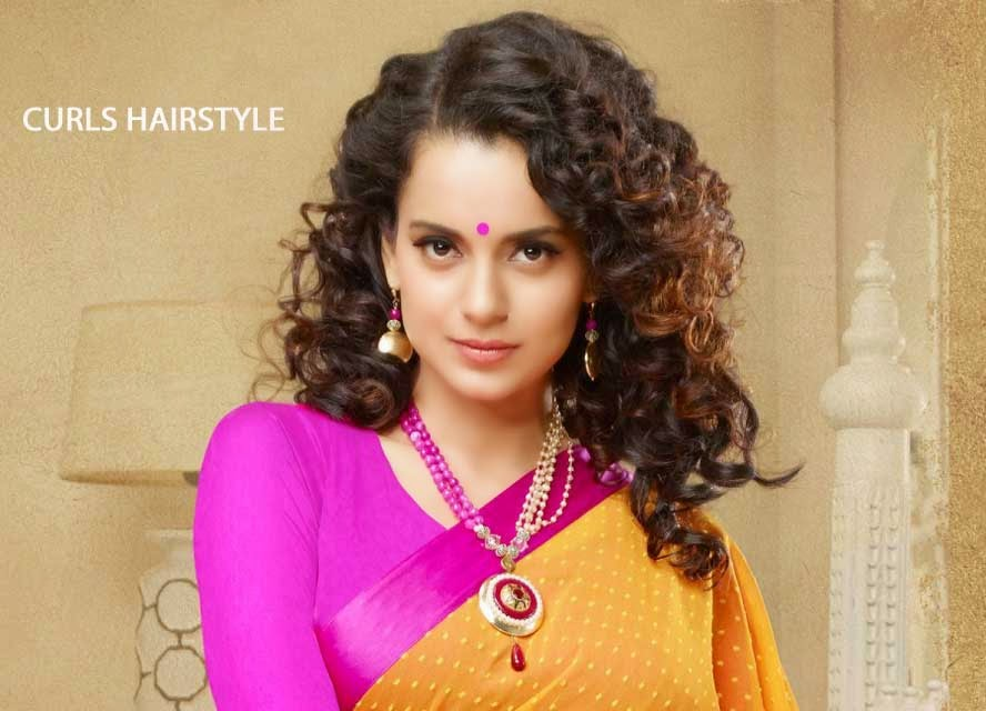 Kangana Ranaut with Curls Hairstyle
