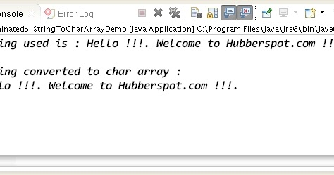 How To Convert String To Primitive Char Array And Print It