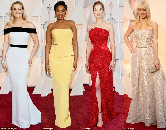 favourites, fails, best, worst, dressed, outfits, style, the oscars, 2015, reece witherspoon, tom ford, jennifer hudson, romona keveza, rosamund pike, givenchy, Zuhair Murad, anna faris