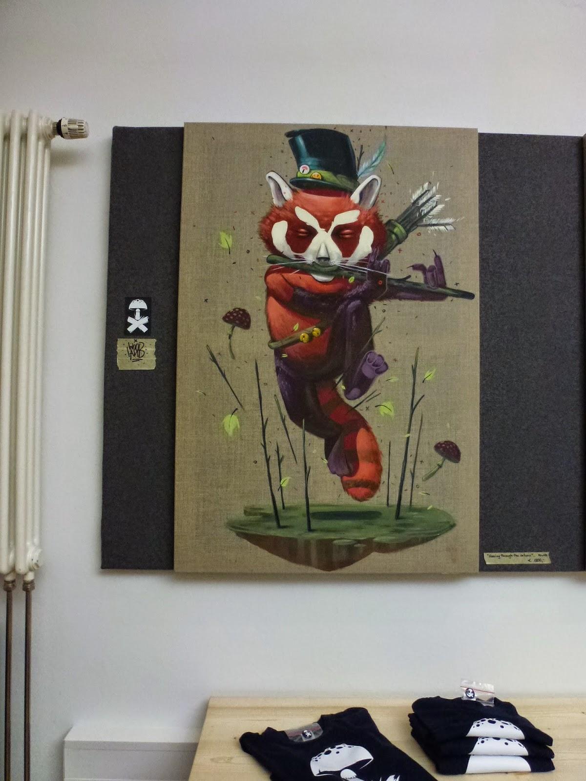Mr. Woodland in der Ausstellung von Art Avenue