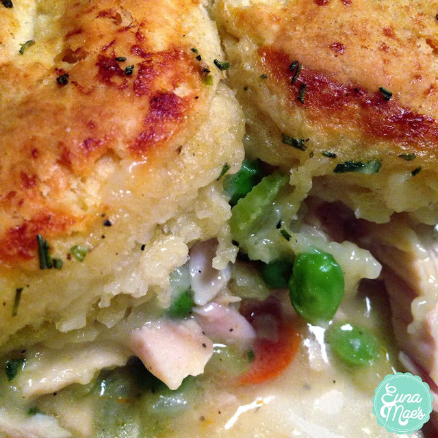 Euna Mae's : Turkey Pot Pie with Rosemary Biscuit Topping