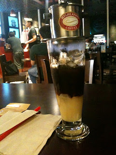Cafe Sua Da at Highlands Coffee