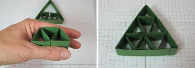 PAP 03 - Mini Árvore feita com dobradura de papel