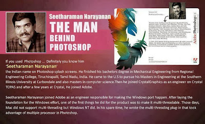 Seetharaman Narayanan of Photoshop splash screen fame