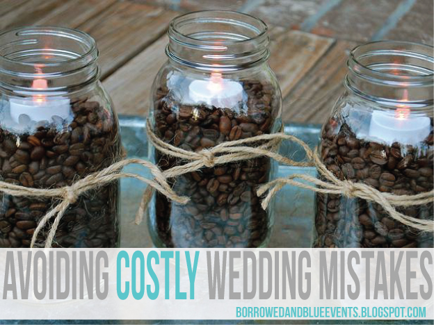 Tips on how to avoid expensive mistakes when planning a wedding from a wife who's been there, done that.