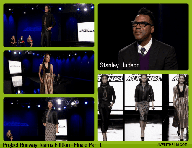 TV Talk - Project Runway Teams Edition Finale Part 1 - fashion designer Stanley Hudson and his 3 looks