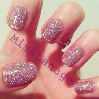 glittery nail art designs