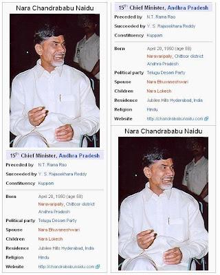 Nara Chandrababu Naidu Profile