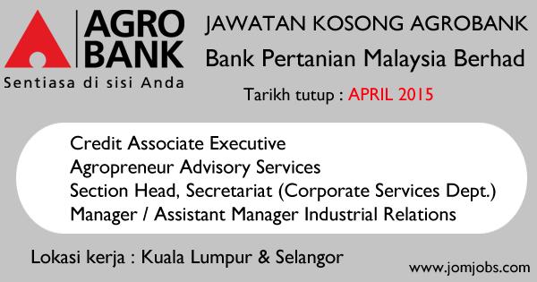 Jawatan Kosong Agrobank Terkini April 2015