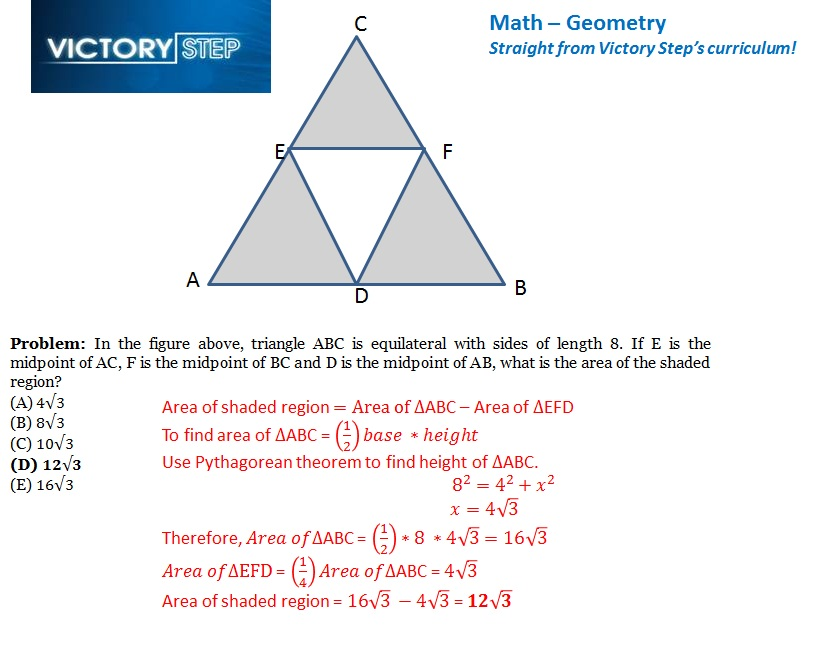 the official blog of victory step sat act prep in dallas ft victory step sat geometry problem 1