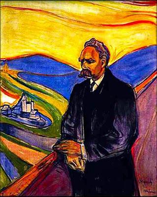 Nietzsche pintura de Edvard Munch