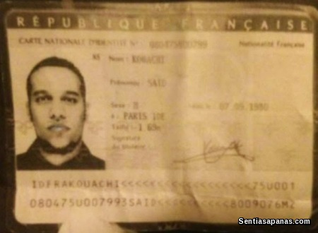 Said Kouachi Identity Card