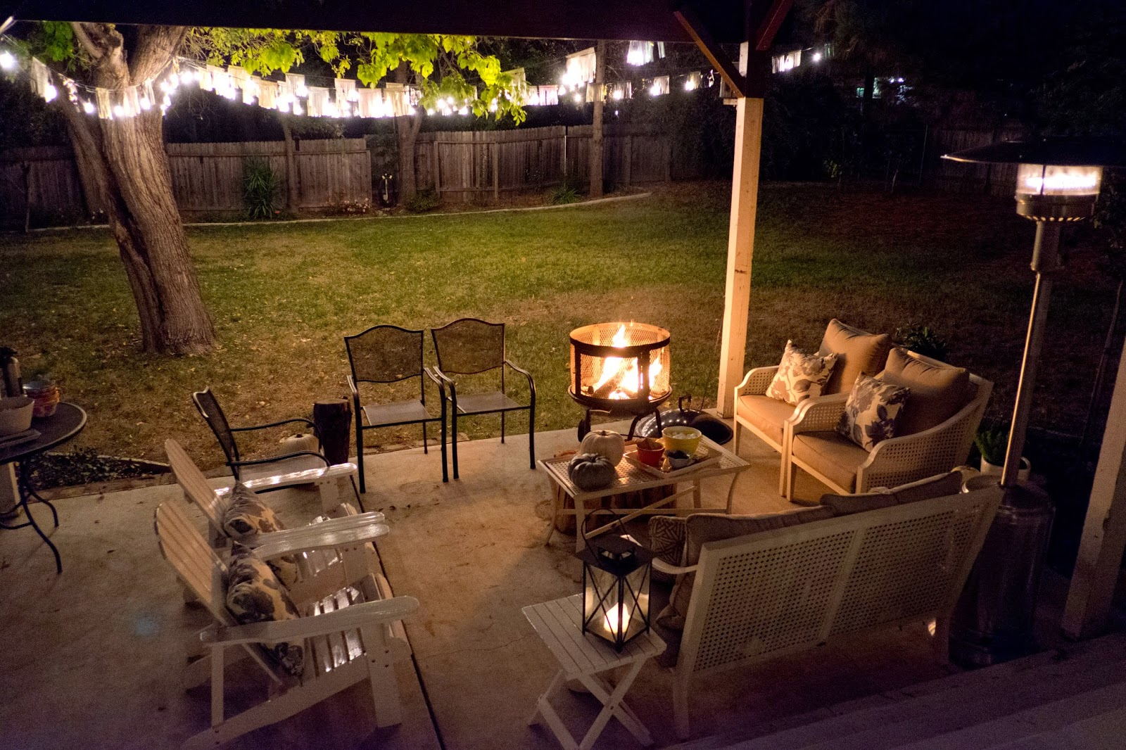 domestic fashionista backyard fire pit smores and community