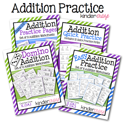 Addition Practice Pages, $