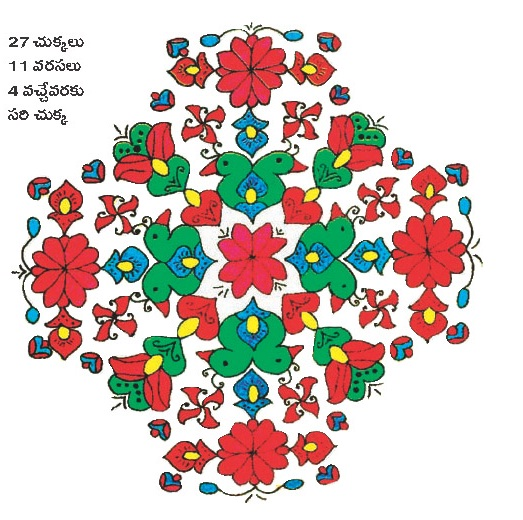 sankranthi muggulu and Mehandi designs...: bird muggulu