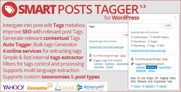Free Download Smart Posts Tagger V1.5 Wordpress Plugin