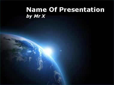 Powerpoint templates free download free powerpoint templates cosmic free powerpoint template this powerpoint presentation is perfect for any subject related to earth or space with a very representative background toneelgroepblik Images