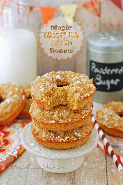 Maple Butternut Squash Donuts by The Sweet Chick