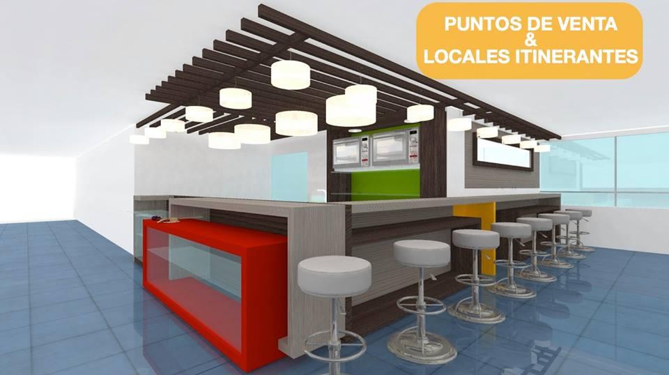 Dise o de locales restaurantes arquitectura corporativa y for Cafeteria escolar proyecto