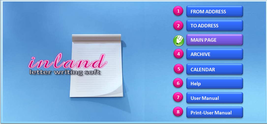 Inland Letter Writing Software
