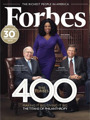 Oprah, Bill Gates, Warren Buffet Forbes Cover