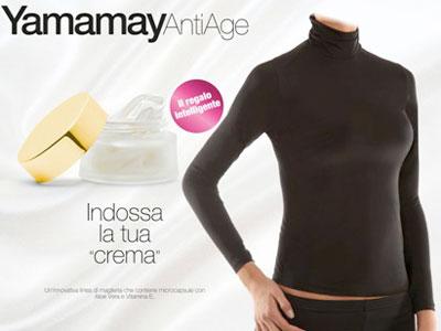 Yamamay Antiage camisetas con tratamiento de belleza