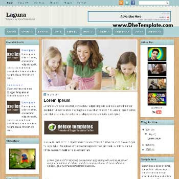 Laguna blogger template. magazine style blogger template with images lider content