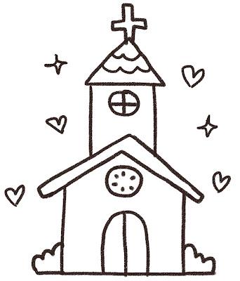 チャペル・結婚式場のイラスト(ウェディング)