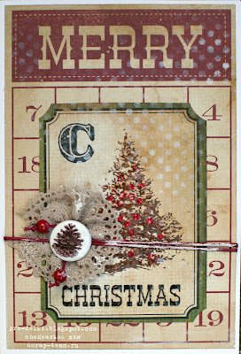 Мастер-класс по изготовлению открытки своими руками на Новый год с использованием фишек для скрапбукинга, глосси, дистресс-чернил, бумаги Simple Stories из коллекции 25 Days of Christmas и пр. Скрап-команда. Материалы - магазин Скрапбукшоп