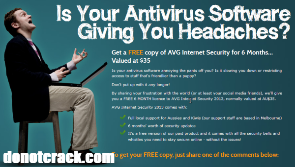 Free AVG Internet Security 2013 6 months
