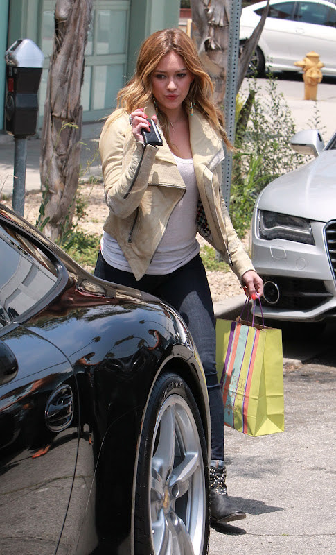 Hilary Duff running errands in LA