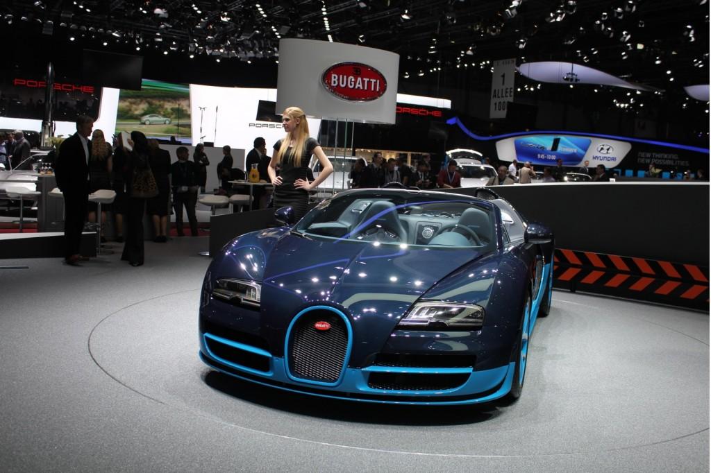 bugatti veyron grand sport vitesse live photos 2012 geneva motor show sport cars. Black Bedroom Furniture Sets. Home Design Ideas