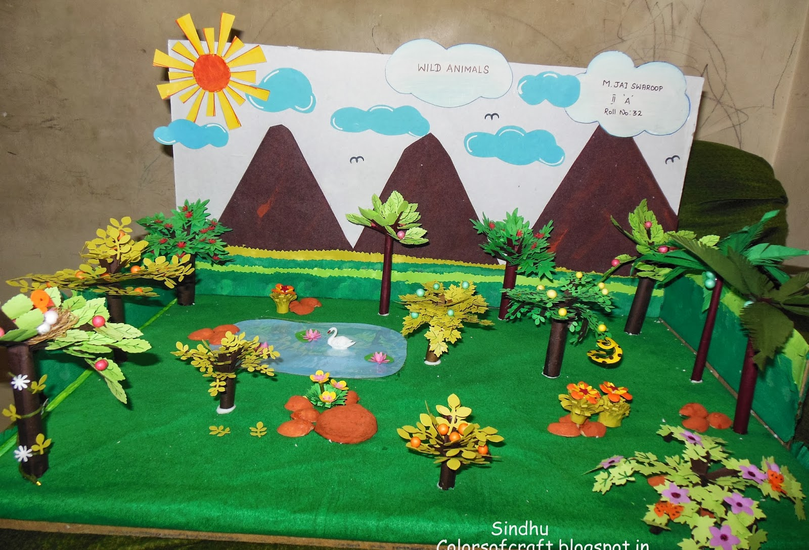 Colors of My Crafty World: Forest - School Project