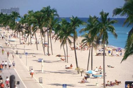 Praias de Miami Hollywood Beach