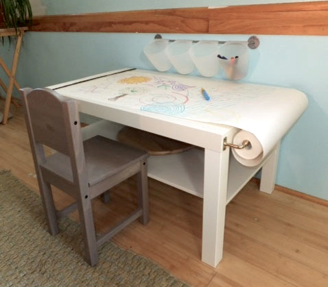 miss ladyfingers diy arts craft table for kids on a budget