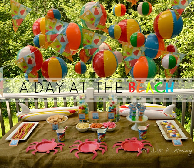 A Day At The Beach playdate party table