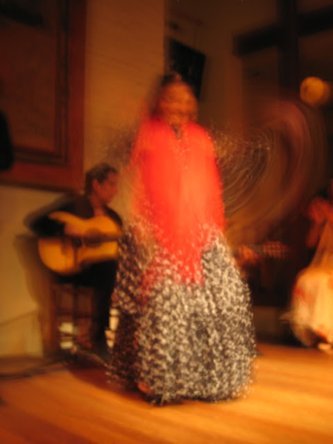 A flamenco dancer in Madrid