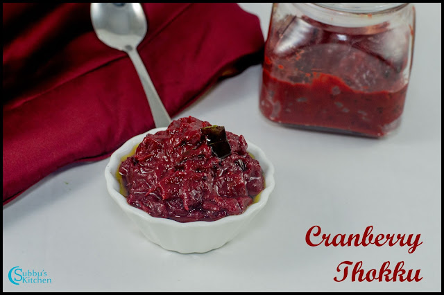 Cranberry Thokku Recipe