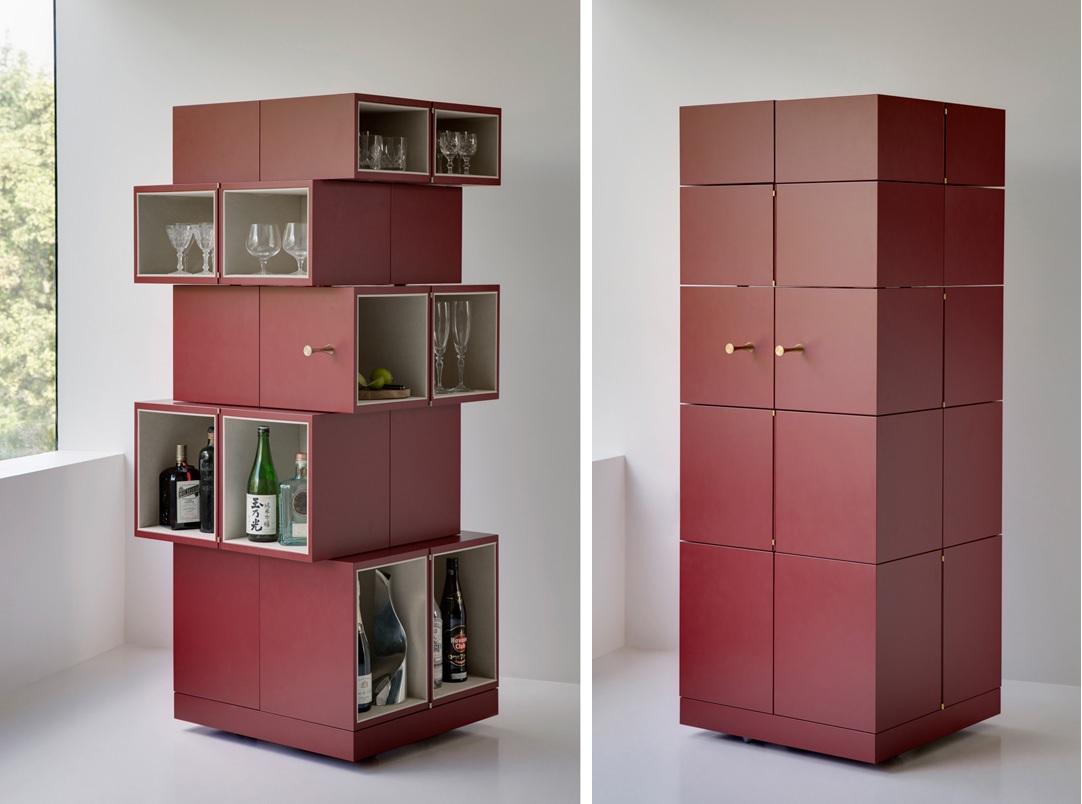 Divertido armário de cubos ~ Decoração e Ideias casa e jardim #3F201C 1082 804
