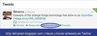 Deshacer un retweet en Twitter
