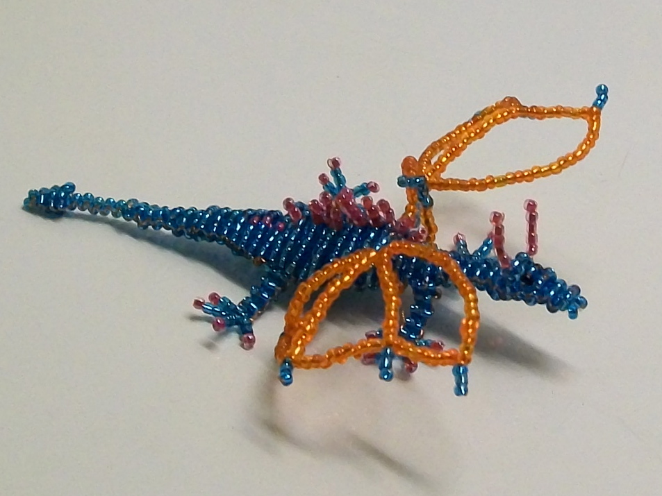 дракон из бисера схема