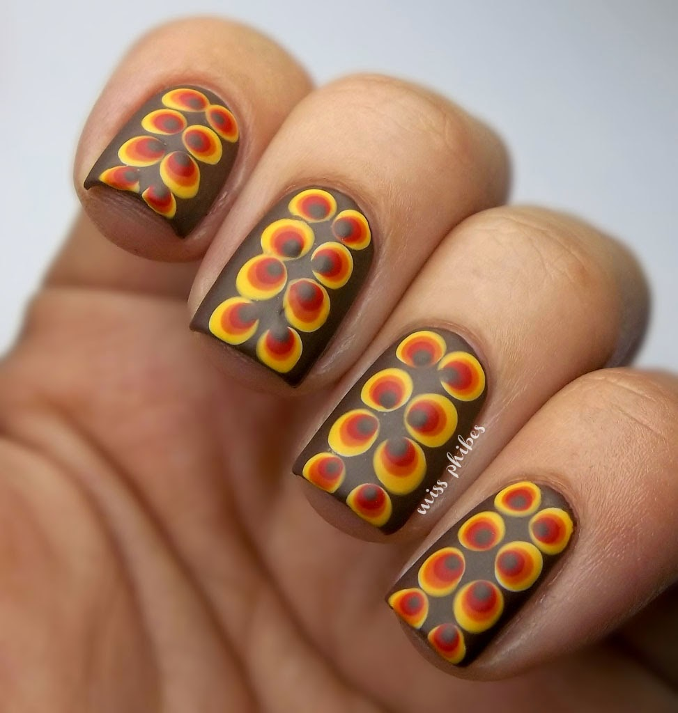 70s Nail Art + Polka Dots Nail Art
