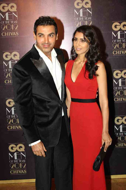 John Abraham with Girlfriend Priya at GQ Men Of The Year 2012 Awards