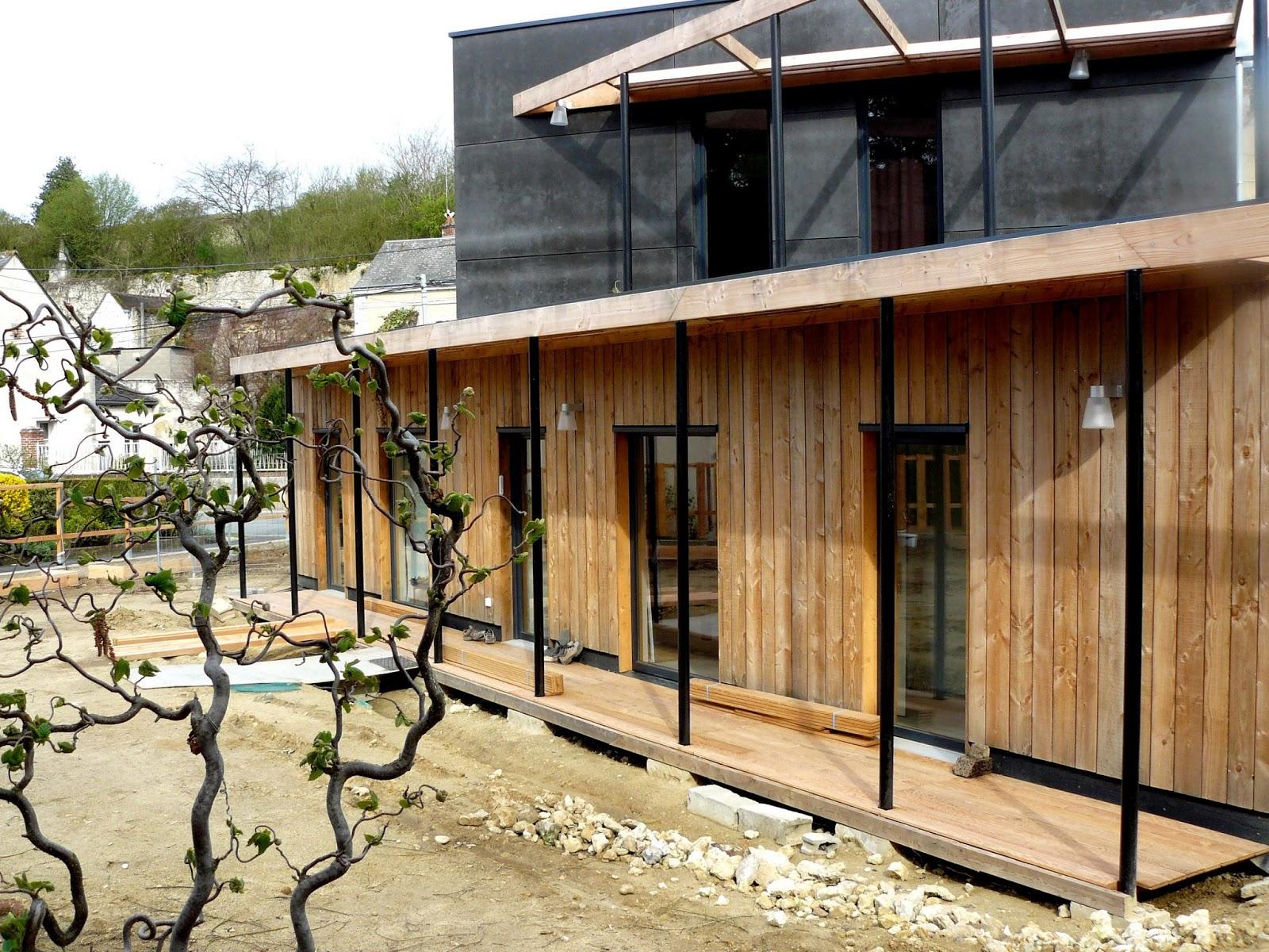 Vouvray maison actuelle - Lame de terrasse robinier ...