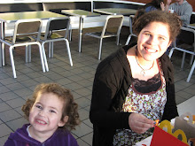 Dani and her niece Kyla at McDonalds