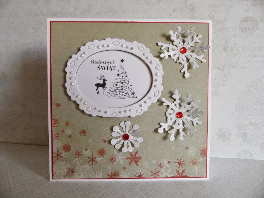 kartka handmade Boże Narodzenie
