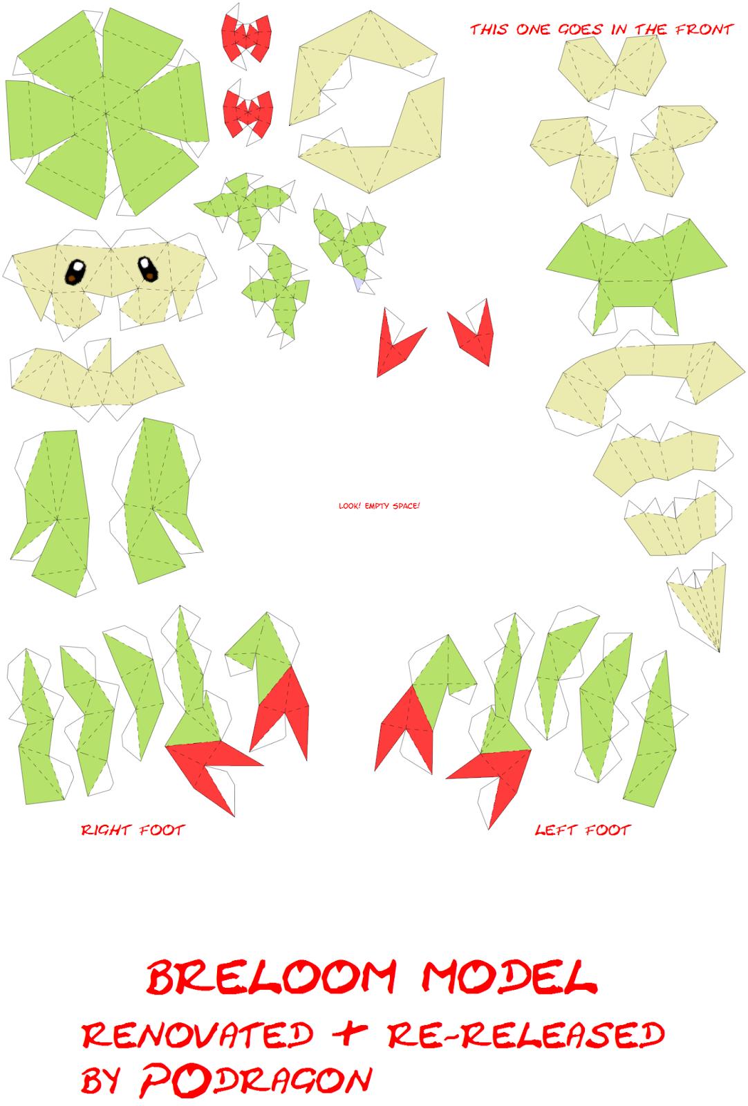Paper Craft M 233 Xico Papercraft Pokemon