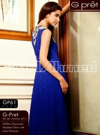 Gul Ahmed Sleeveless Shirt Long Frocks