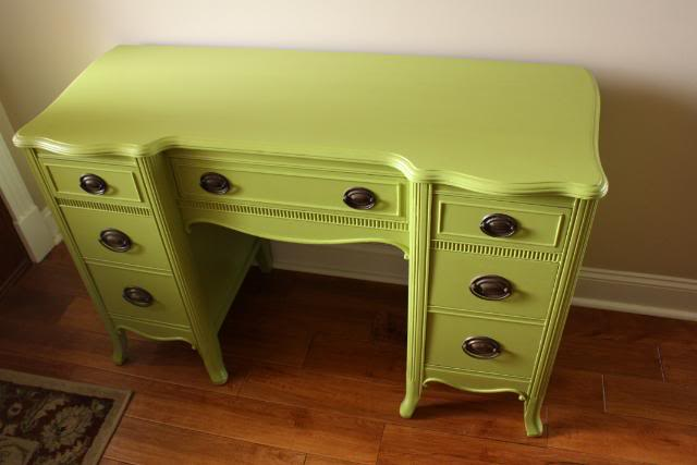 Green Painted Desk