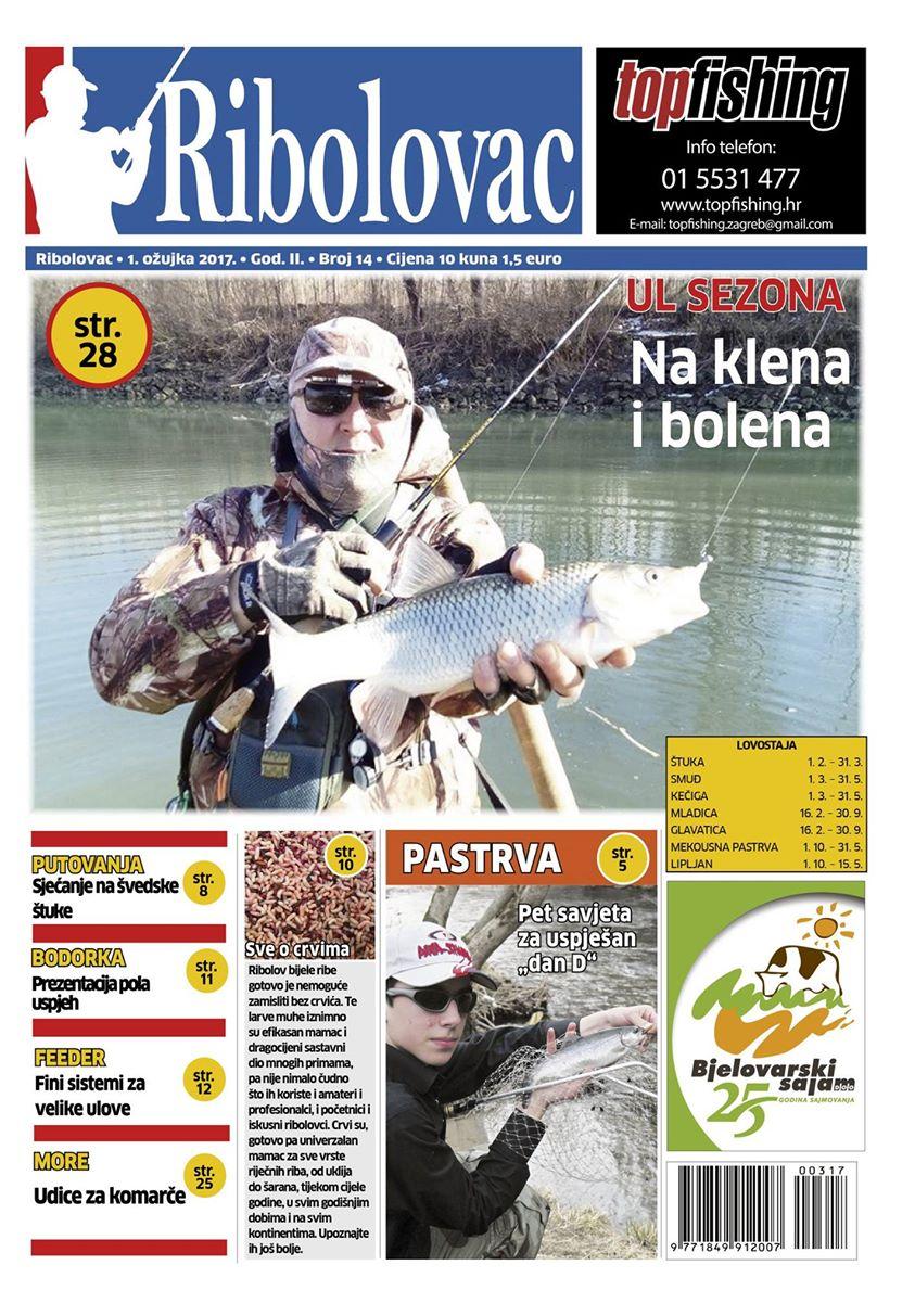 RIBOLOVAC - Novi broj u prodaji na kioscima Tiska širom Hrvatske